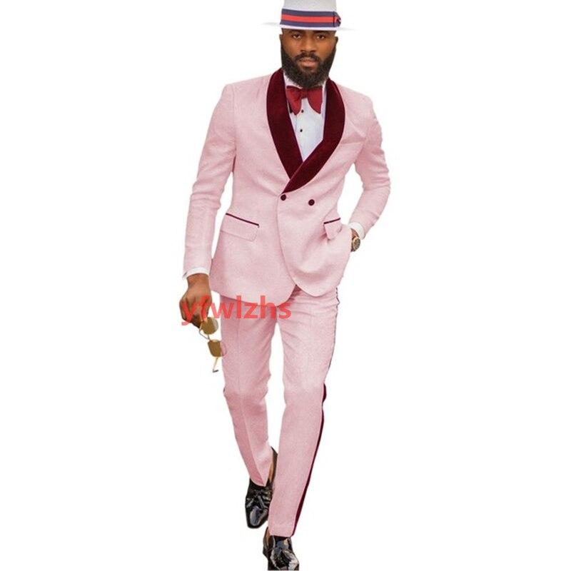 New Arrival Embossing Groomsmen Shawl Lapel Groom Tuxedos Men Suits Wedding/Prom Best Blazer ( Jacket+Pants+Tie) D11