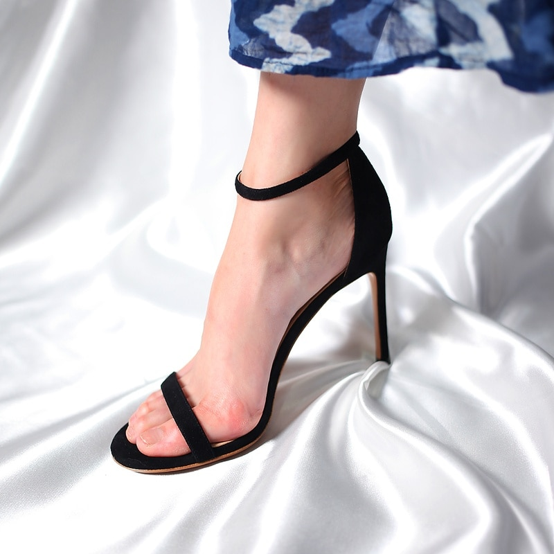 Elegant Sexy Fashion Women Sandals Open Toe 2021 Summer Shoes with High Heels Ankle Strap Female Thi