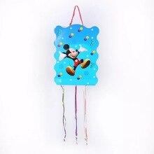 1 ensemble Mickey Mouse papier Pinata coloré bébé douche enfants fête danniversaire bricolage décoration remplissage Pinata 49x27cm taille fête fournitures
