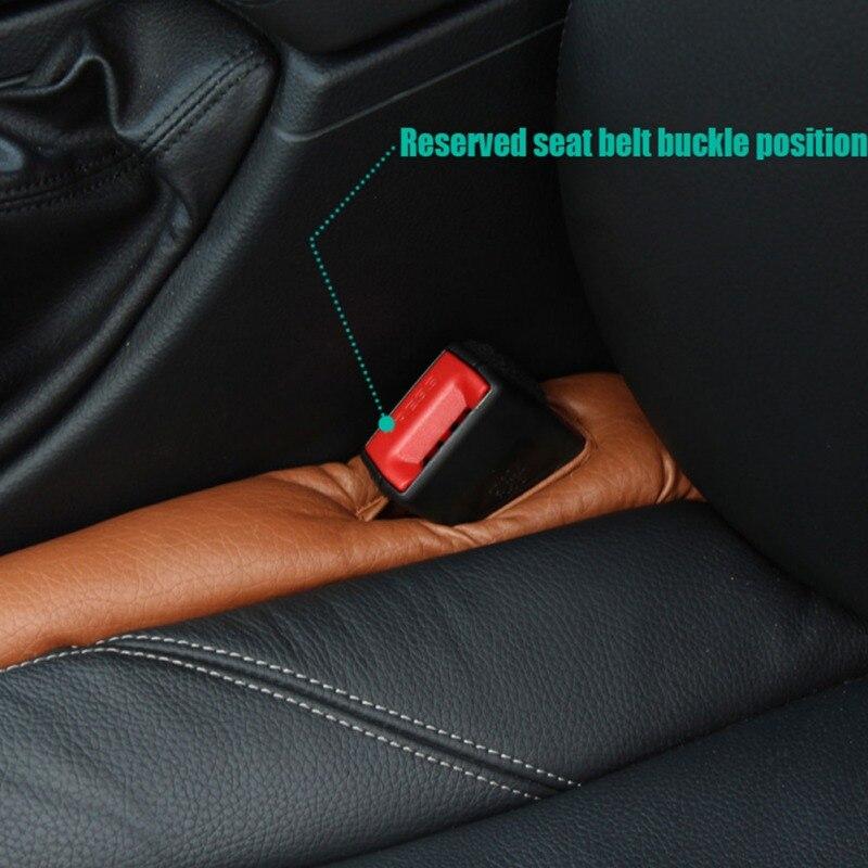Auto Truck Car Seat Slit Spacer Filler Soft Pad Stop Gap mat Holster Blocker Leather