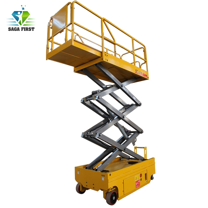 6 м до 12 м загрузка 1000 кг передвижных ножничных подъемных платформ