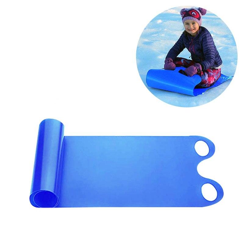 Portátil de invierno Snow Sled resistente al frío enrollable de hierba de arena rodante almohadilla de juguete para adultos niños deporte de invierno
