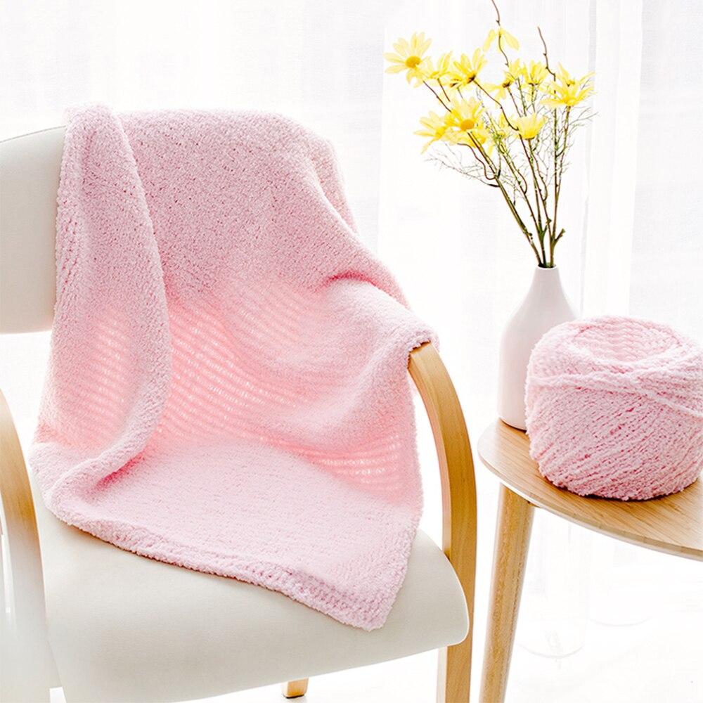 100G caliente y suave lana Natural de mano 3PLY Coral Cachemira cachemir Oso de felpa esponjoso hilo tela cinta lana sombrero hilo caliente