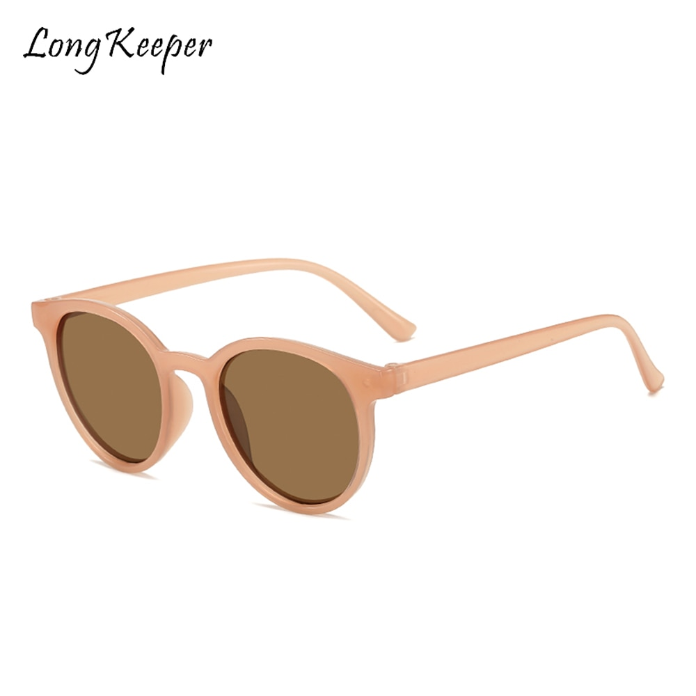 Винтажные Маленькие Круглые Солнцезащитные очки женские роскошные брендовые бежевые розовые Солнцезащитные очки женские мужские круглые ...