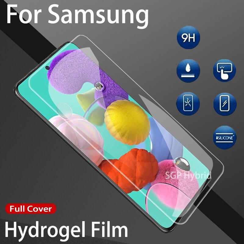 Filme de hidrogel para samsung galaxy, filme protetor de tela para samsung galaxy a71 a51 a 71 51 filme não vidro