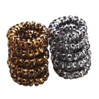 lots 10pcs leopard design pattern telephone wire hair band line rope tie holder accessory size 3cm