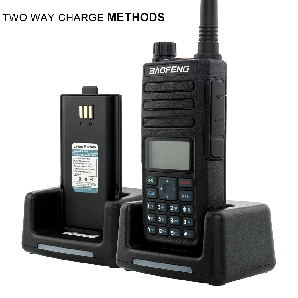 2021 Baofeng DM 1801 Tier 1+2 Dual Time Slot radio walkie talkie Dual band 136-174 & 400-470MHz Baofeng DM1801 Digital DMR Radio enlarge