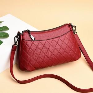 Hot Sale Shoulder CrossBody Bags Ladies Women's Genuine Leather Handbags Fashion Plaid Bags For Women Bolsas Feminina