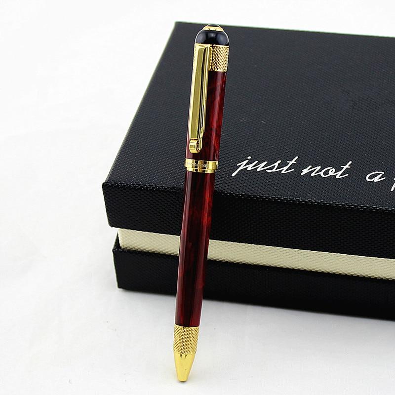 Металлическая гелевая ручка золотого цвета, роскошные подарочные ручки 0,7 мм, офисные школьные принадлежности для студентов