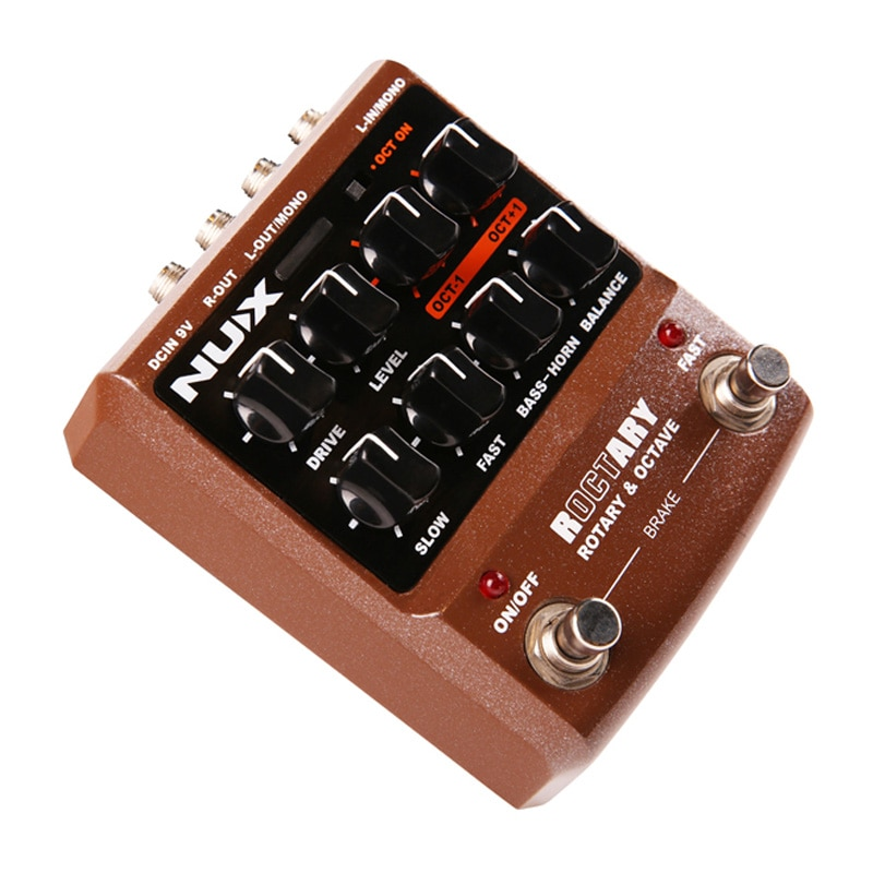 NUX Roctary Force Pedal Guitar Polyphonic Octave and Rotary Speaker Leslie Simulator Effect 2 in 1 Pedals Guitar Accessories enlarge