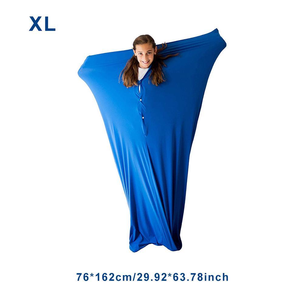 Envoltório de meia sensorial de corpo inteiro para aliviar o estresse ansiedade de hiposensibilidade elástico seguro confortável respirável saco para crianças