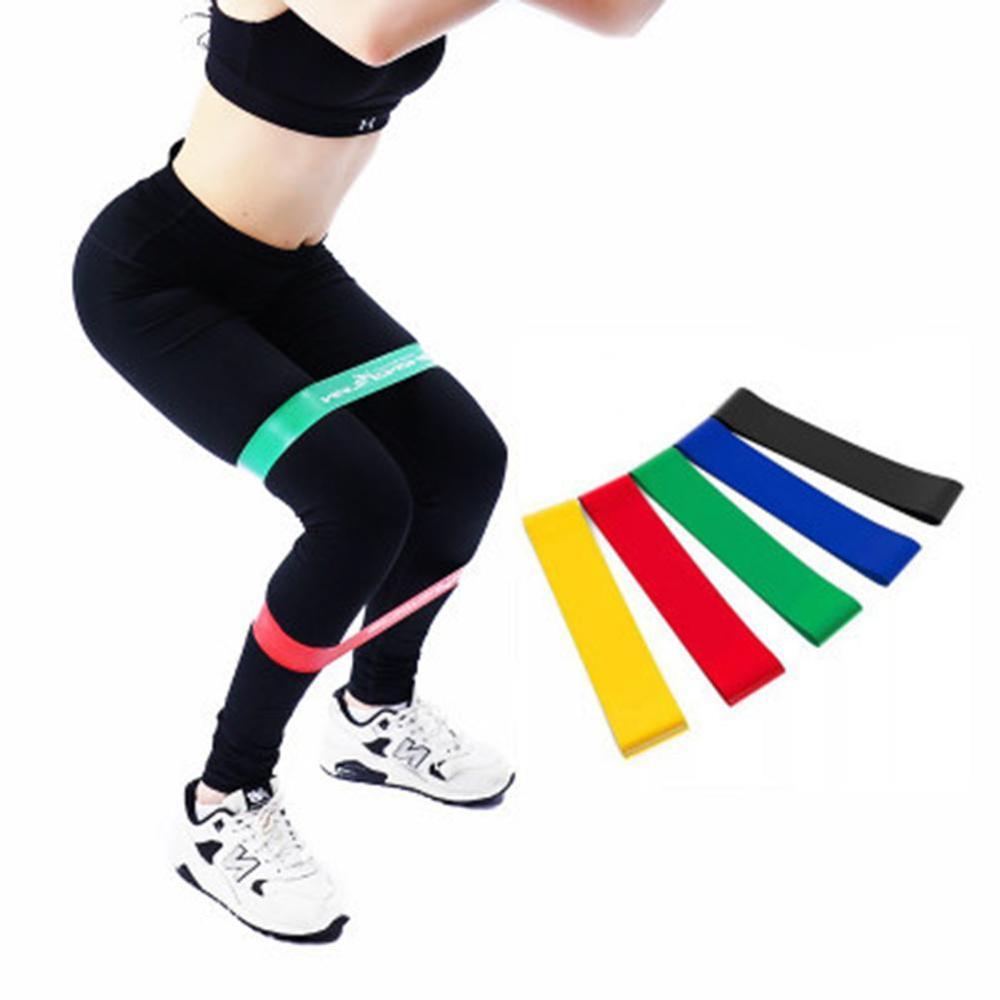 5PCS Yoga Widerstand Bands Stretching Gummi Loop Übung Fitness Equipment Strength Training Körper home gym fitness mit tasche