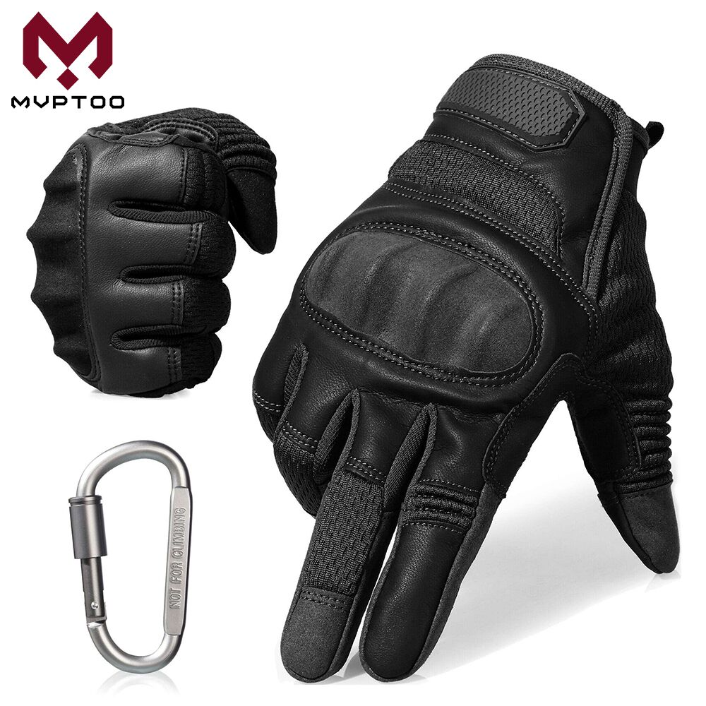 Touch Screen Motorcycle Gloves Moto Motorbike Motocross PU Leather Biker Driving Wear Resistant Full Finger Glove ATV Men Women