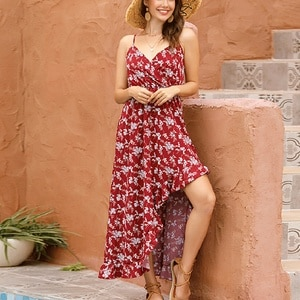 Women Summer Boho Maxi Long Dress 2020 Beach Dresses Sexy V-neck Off Shoulder Floral Print Backless Dress Women Vestidos#J30