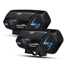 2Pcs Fodsports Motorfiets Bluetooth 4.1 Helm Headset Intercom Waterdicht M1-S Pro Draadloze Intercomunicador Interphone MP3