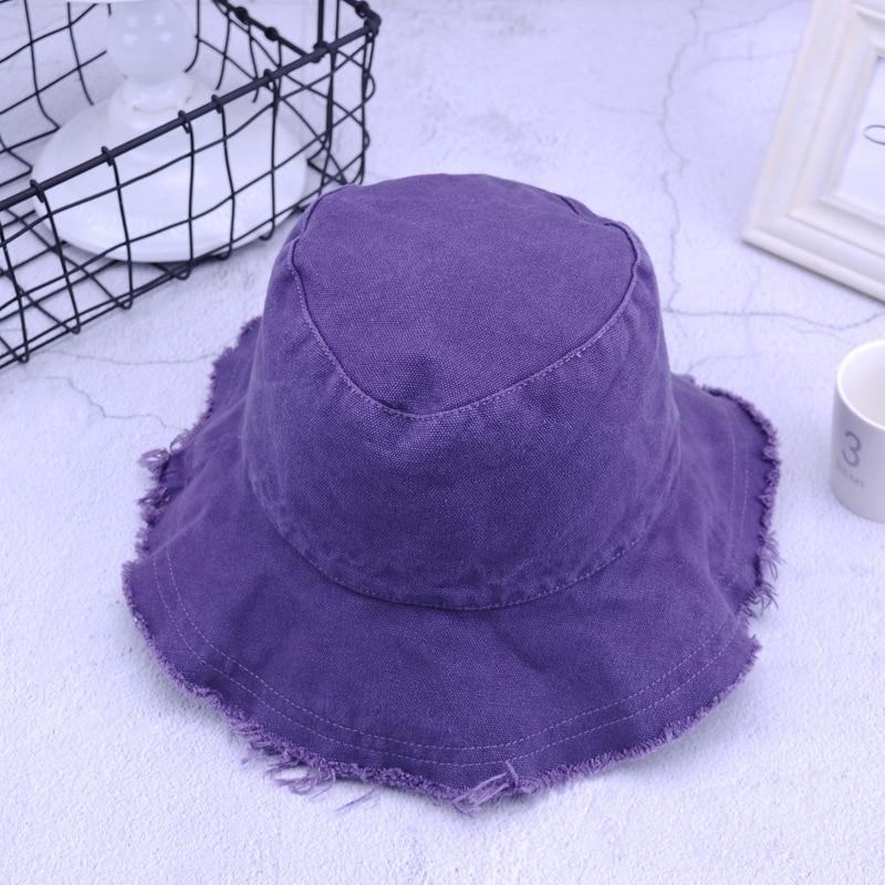 Primavera e verão feminino novo balde chapéus meninas cor sólida franja pescador chapéus de viagem ao ar livre chapéu de sol para o sexo feminino