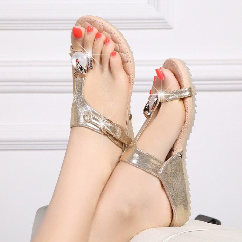 Summer Women Sandals Fashion Flat Sandals Flip Flops Women Shoes Mothers Shoes Soft Casual Beach Sho
