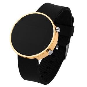 Часы наручные цифровые светодиодные для мужчин и женщин, модные повседневные, с силиконовым ремешком
