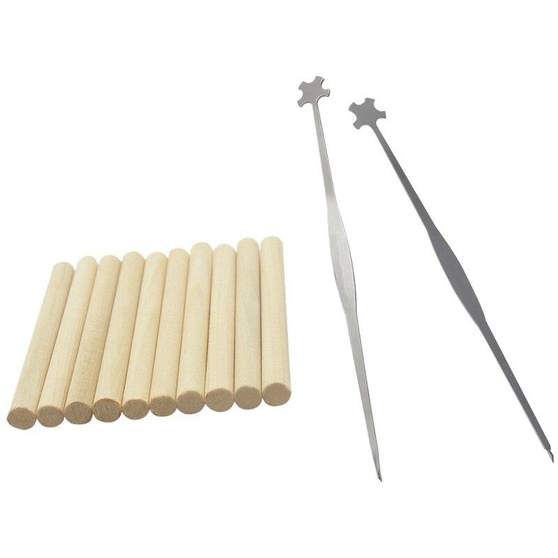 1 pçs violino som pós setter ferramenta de reparo & 1 conjunto peças violoncelo ganchos coluna ferramentas violoncelo som