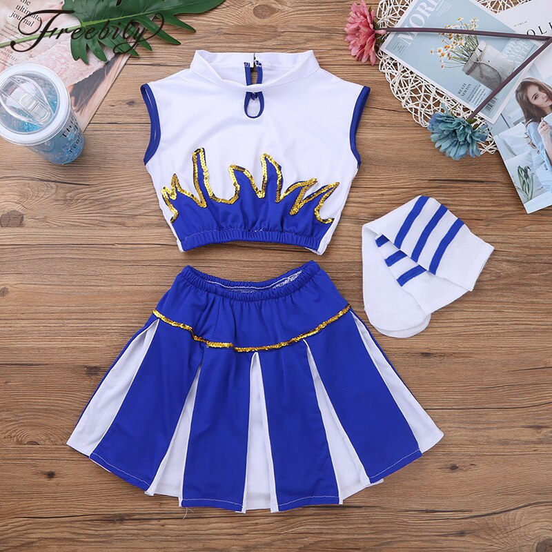 halloween children s costume cosplay girl horror vampire death ghost clothes little witch long sleeve costume girls prom dress Children Kids Girls Cheerleader Costume School Girls Cheer Costume Outfit for Carnival Party Halloween Cosplay Dress Up Clothes