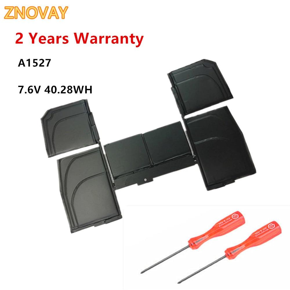 ZNOVAY A1527 Laptop Battery For Apple Macbook Retina 12'' inch A1534 MMGL2 MF855 MJY32 MK4M2 7.6V 40.28WH/5263mAh недорого