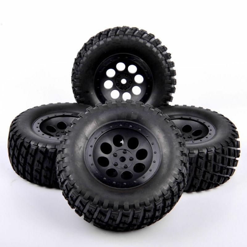 4 шт. 1/10 радиоуправляемые короткие грузовые шины и колеса, модель 12 мм, шестигранный, подходит для TRAXXAS SLASH Truck Car