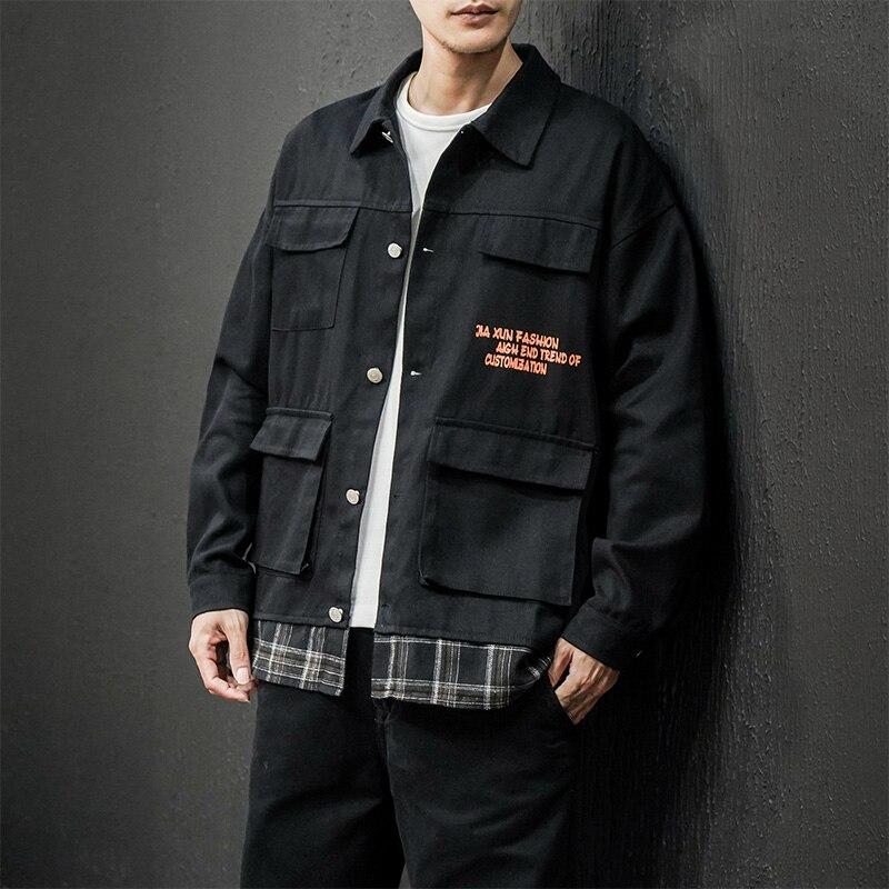 Куртка-карго мужская оверсайз, модная повседневная одежда, уличная одежда, осень, 5XL