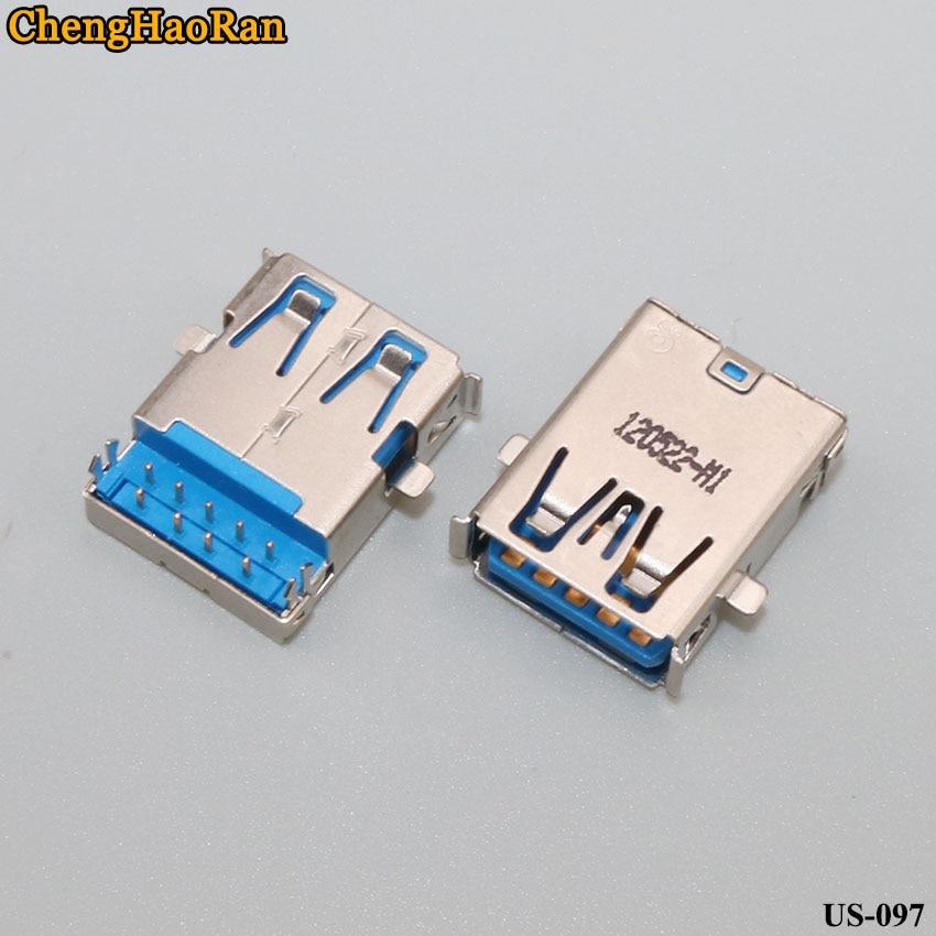 ChengHaoRan 2 шт. подходит для некоторых моделей ноутбуков с интерфейсом USB 3,0 гарпун ножная 90 градусов отверстие под гнездо 9 контактов язык под
