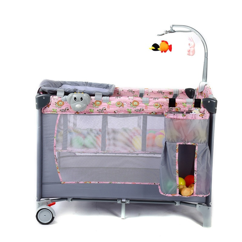 Portable Baby Playpen Travel Bed Foldable Bed Paly Game Beding Sets Baby Cot Game Bed Newborn Baby Bassinet 0-36month
