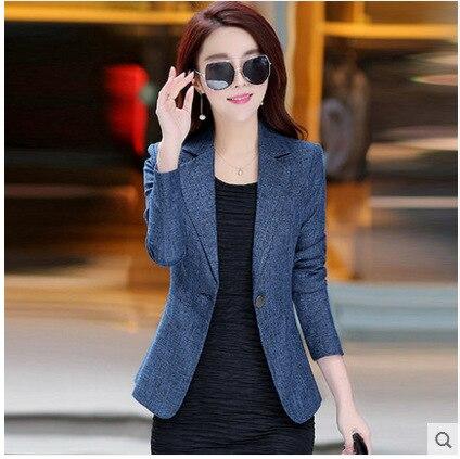 ¡Novedad de 2019! nueva chaqueta para mujer Vadim de mujeres Blazers y chaquetas, chaqueta para mujer de otoño, chaqueta de ocio con manga entallada para mujer