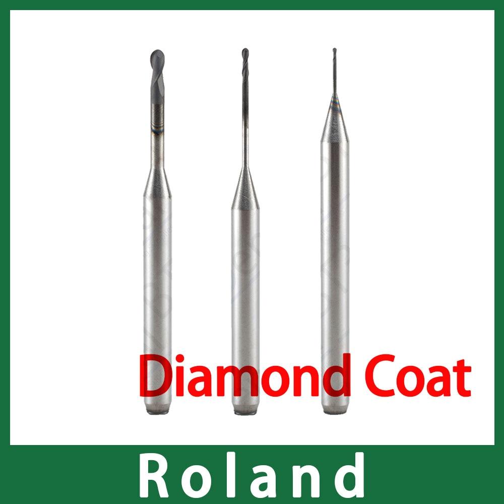 1 قطعة CVD الماس معطف طحن بور لنظام رولاند CADCAM مع وقت الخدمة الطويل
