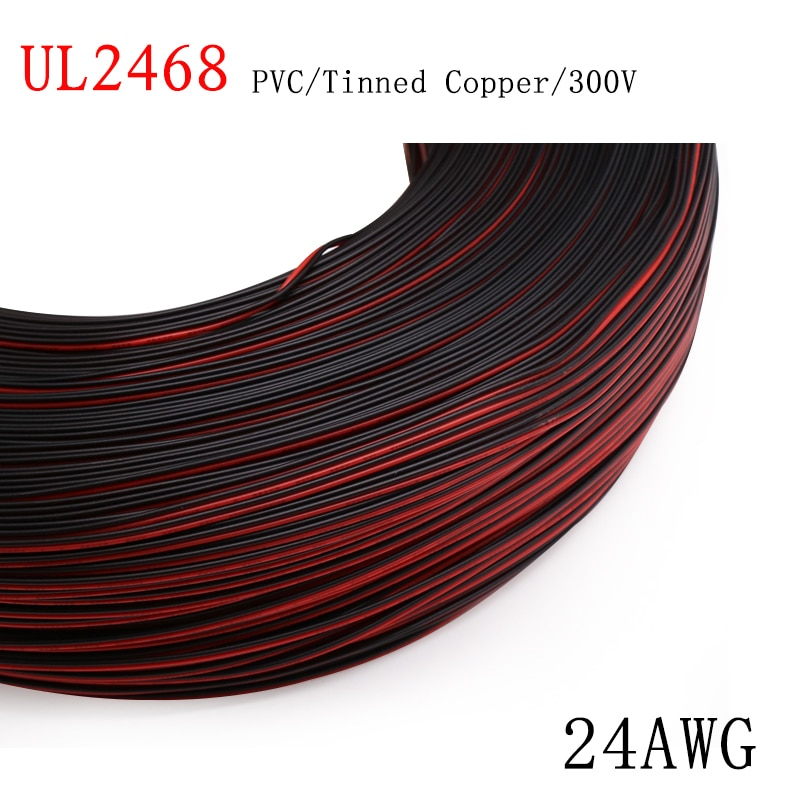 AliExpress - 2/5M 24AWG UL2468 2 Pins Electric Copper Wire PVC Insulated Double Cords Lamp Lighting Cable Extend Connect Line White Black Red