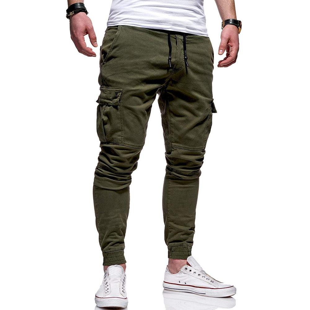 High Quality Khaki Casual Pants Men Joggers Army-Green Cargo Pants Multi-Pocket Fashions Black Trousers Of Man