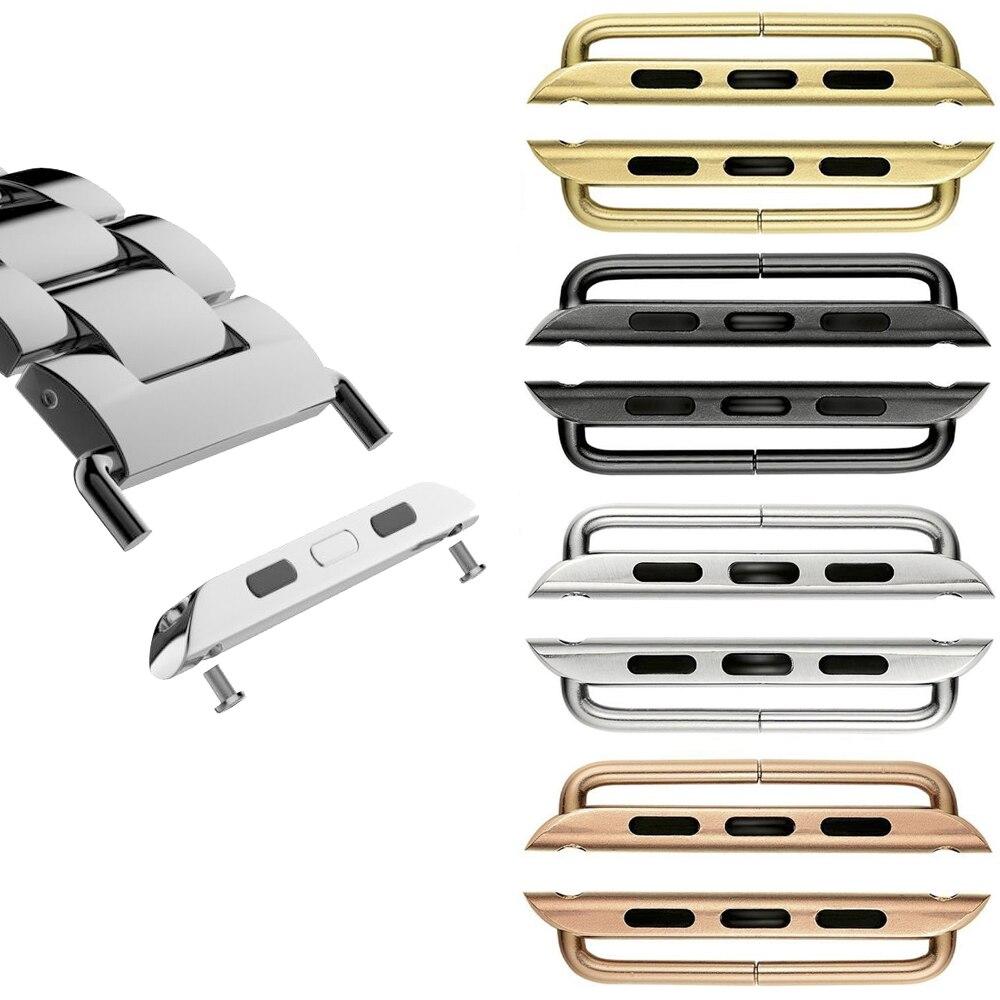 Adaptador para apple relógio de pulso banda conector 44mm 40mm iwatch banda 42mm 38mm 316l aço inoxidável conector maçã relógio acessórios