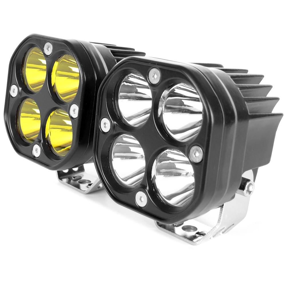 3 Inch Led Work Light Bar 12V 24V For Car Yellow Fog Lamp 4x4 Off road Motorcycle Tractors Driving Lights White Square Spotlight