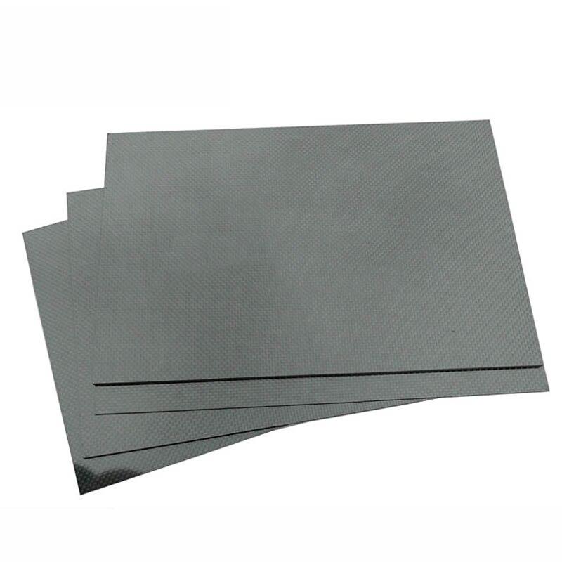 0,5-5 MM 400*500mm 3K superficie mate sarga Placa de carbono hojas de Panel de alta dureza compuesta Anti-UV Placa de fibra de carbono