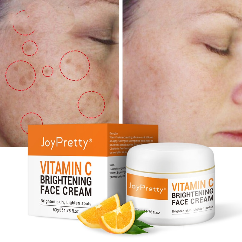 AUQUEST Face Cream Vitamin C Cream Remove Dark Spots Whitening Face Care Moisturizing Anti-Aging Firming Skin Care Cosmetics недорого