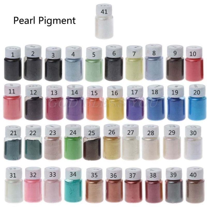 41 Kleur Pearl Mica Poeder Epoxyhars Kleurstof Dye Parel Pigment Sieraden Maken Pigment
