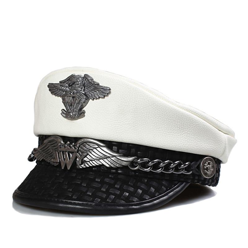 النساء الرجال قبعات قبعة البحرية القبعات النسخة الكورية الخريف الشتاء قبعة البحرية قبعة موضة جديدة بلون لصق قبعة عادية ذروتها