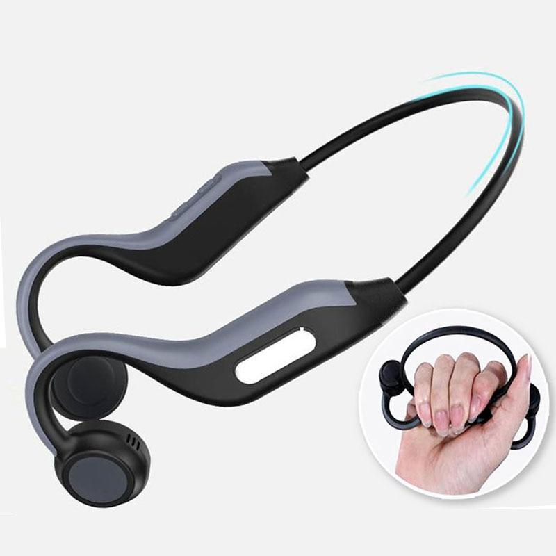 Беспроводные Bluetooth наушники B1, 5,0 наушники с костной проводимостью, Спортивная уличная гарнитура с микрофоном, гарнитура с громкой связью, 8 ...