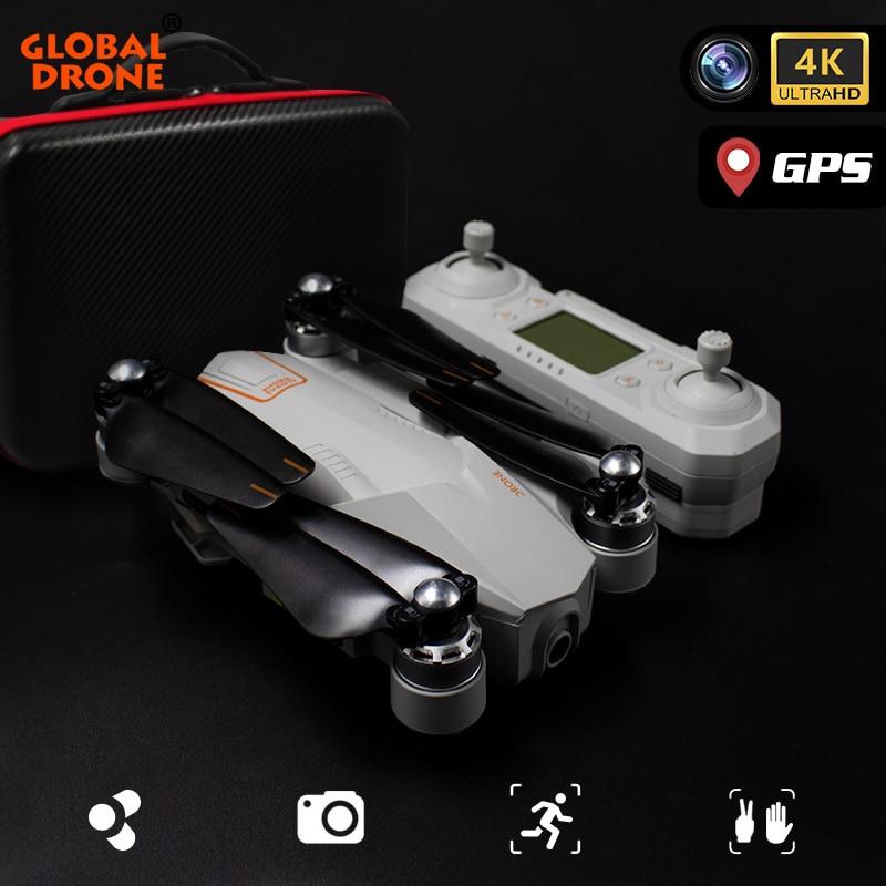 Дрон 4K GPS Квадрокоптер Дрон с камерой HD широкоугольный следуй за мной WiFi Квадрокоптер RC FPV Профессиональный Дрон VS F11 E520S SG907