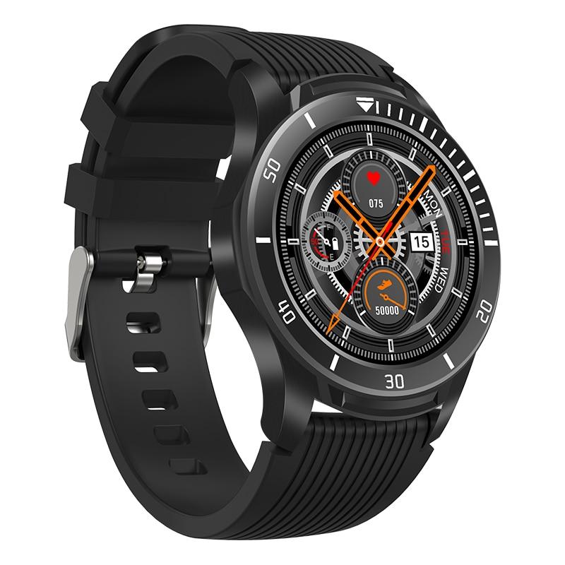 Reloj inteligente GT106, Monitor de presión arterial y sueño, reloj inteligente resistente al agua con Bluetooth y recordatorio meteorológico para deporte multilingüe