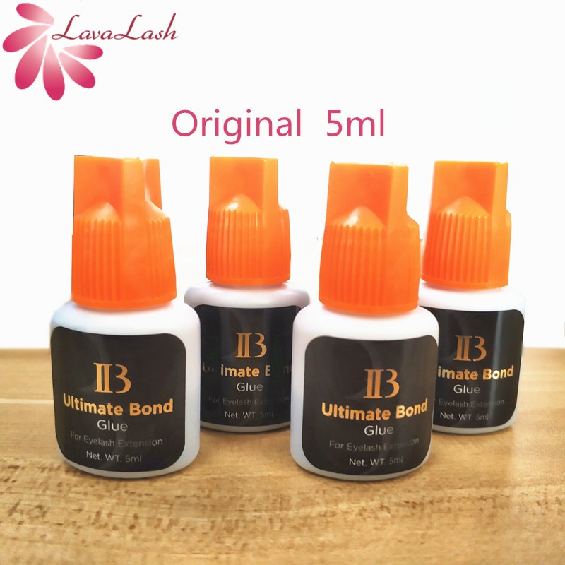 Envío Gratis i-beauty Ibeauty 4 botellas IB Ultimate bond pegamento Individual pegamento de extensiones de pestañas tapa naranja 5ml/botella
