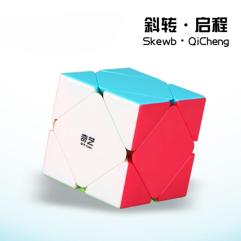 Cubo mágico profesional QiYi Skewb de Color sólido, Cubo de rompecabezas de velocidad de competición, juguetes para niños, juego específico de 6 colores, Patience Gam