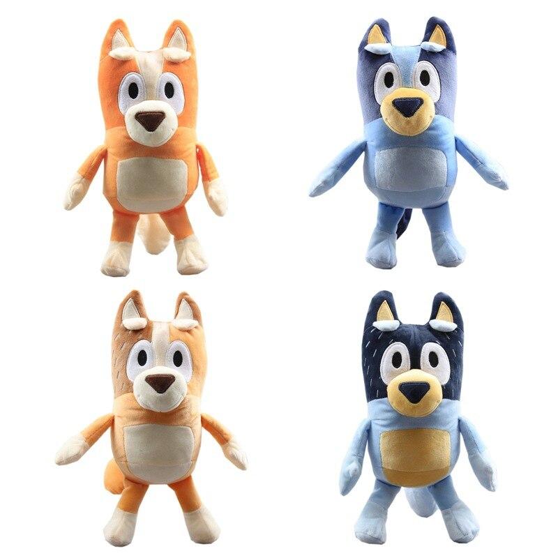4 unids/lote de juguetes de Peluche de dibujos animados TV Dog Bingo, juguetes de Peluche suaves para niños, regalos para niños