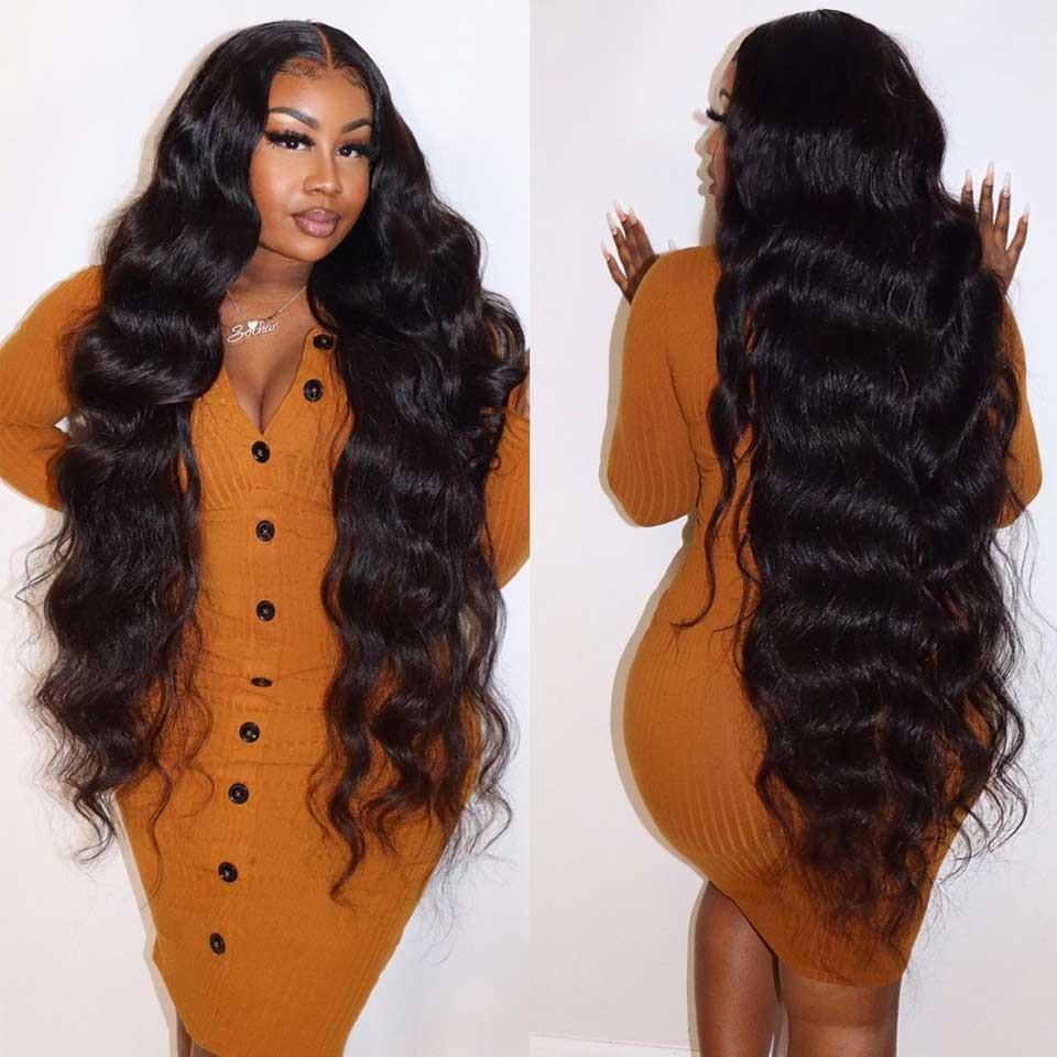 التوت البري 13x4 13x6 الجسم موجة الدانتيل الباروكة أمامي 100% ريمي خصلات الشعر المستعار البشري بيرو للنساء السود قبل قطعها خط الشعر الطبيعي