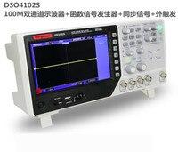 Original DSO4102S USB 2 Channel 100MHz Digital Oscilloscope Signal Source 1GSa/s Arbitrary/Function Waveform Generator