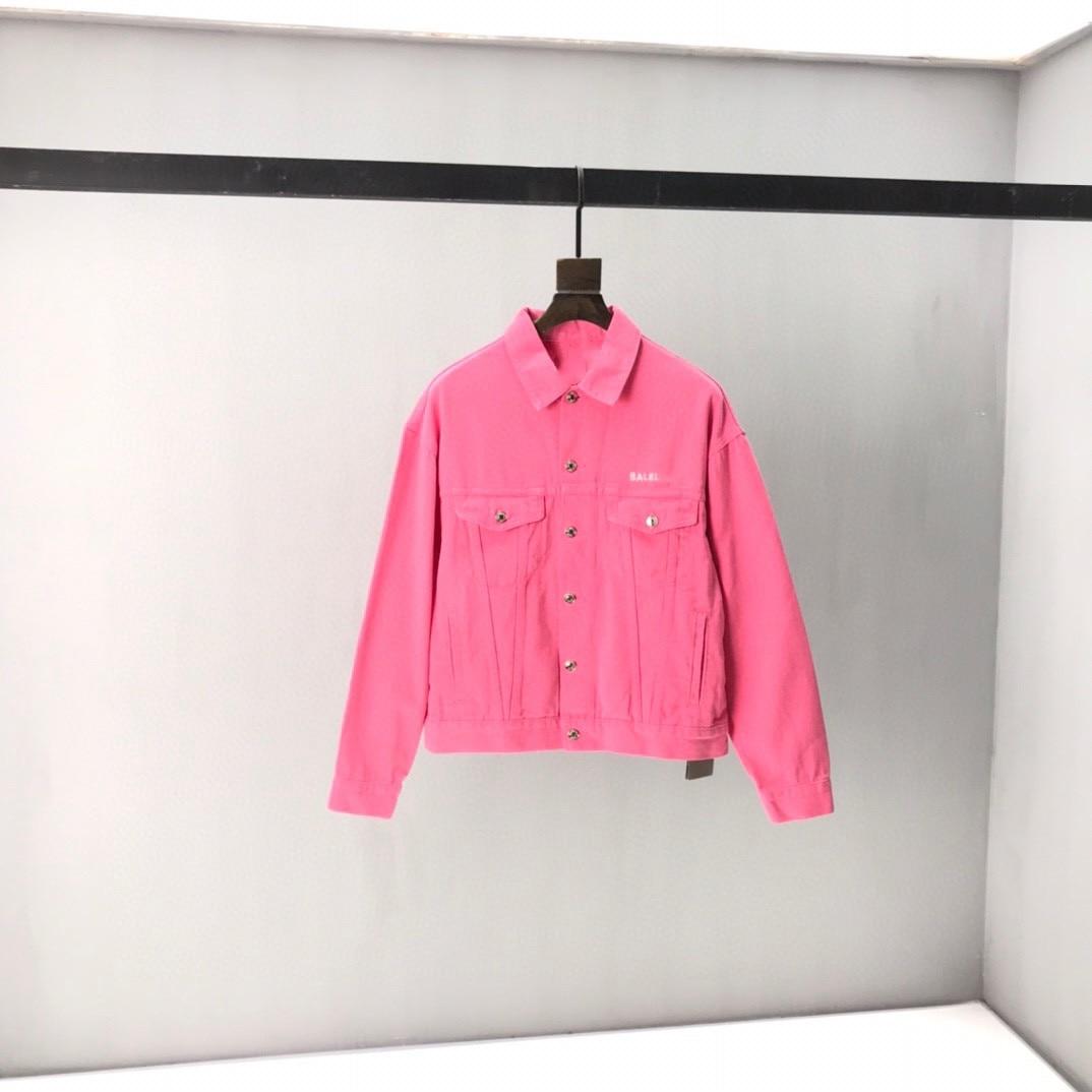 2021 Paris Spring and summer Fashion Hip Hop Denim Jacket Male Cowboy Ripped Hole European Size S~XL 76