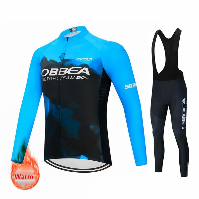 Pro Team-Ropa de Ciclismo para hombre, Maillot térmico de lana, pantalones con...