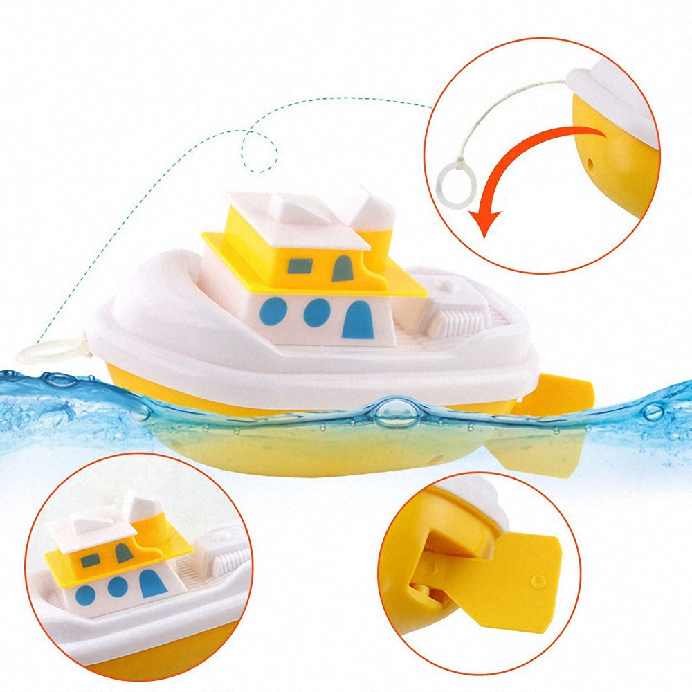 1pc cartoon tortoise navio brinquedo crianças brinquedos de banho brinquedos de água brinquedos educativos clockwork vento-up brinquedo chuveiro jogar brinquedos para crianças